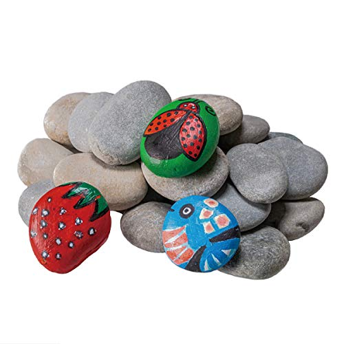 YEAHOME River Rocks for Painting, 5 Pounds 20PCS Smooth Unpolished Stones...
