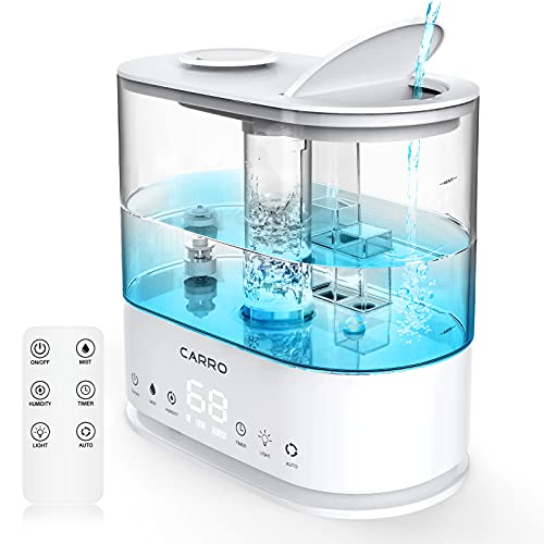 Carro Cool Mist Humidifiers for Bedroom Quiet with Essential Oils Diffuser...