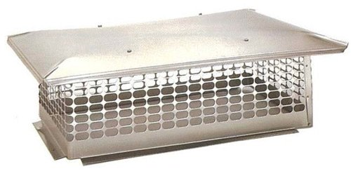 The Forever Cap CCSS1729 17 x 29-Inch Multi Flue Stainless Steel Crown...