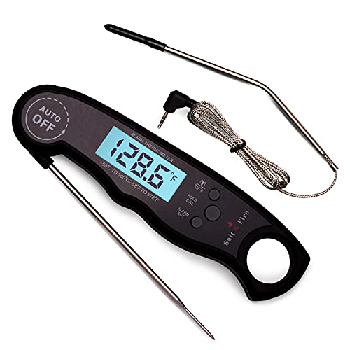 Digital Instant Read Meat Thermometer for Grill and Cooking - 2 in 1...