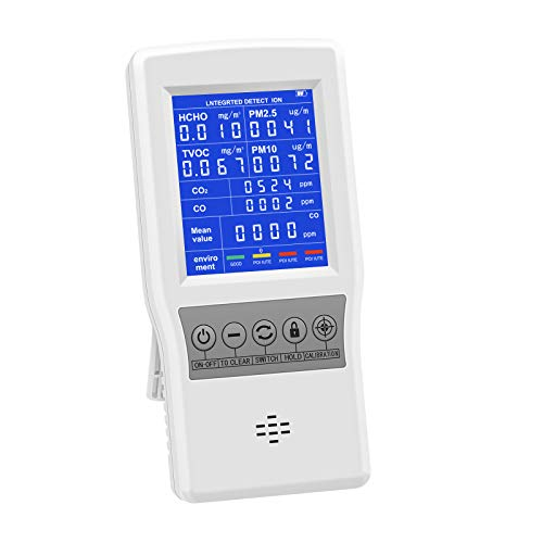 HYVQDNM Air Quality Monitor Indoor for CO2 CO Formaldehyde(HCHO) TVOC...