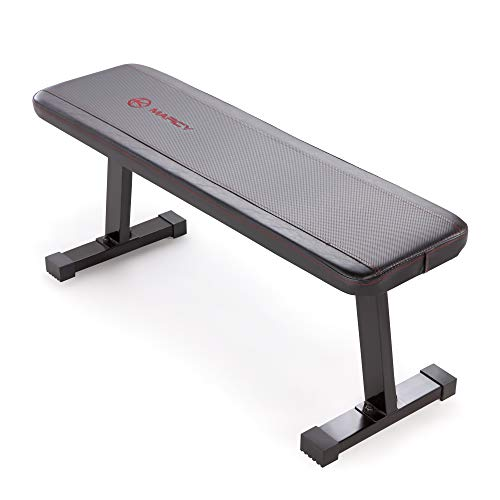 Marcy Flat Utility 600 lbs Capacity Weight Bench for Weight Training and Ab...