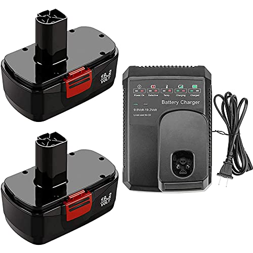 2Packs 19.2 Volt 3.6Ah Replacement for Craftsman 19.2V Battery Ni-MH C3...