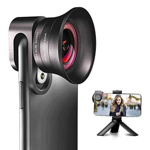 iPhone Camera Lens Pro with Tripod - ANGFLY 4K HD 120° Wide Angle Lens &...