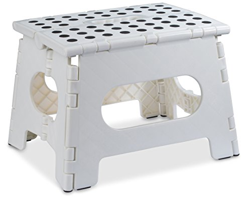 Folding Step Stool - The Lightweight Step Stool is Sturdy Enough to Support...