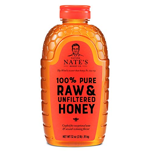 Nature Nate's 100% Pure, Raw & Unfiltered Honey; Squeeze Bottle;...