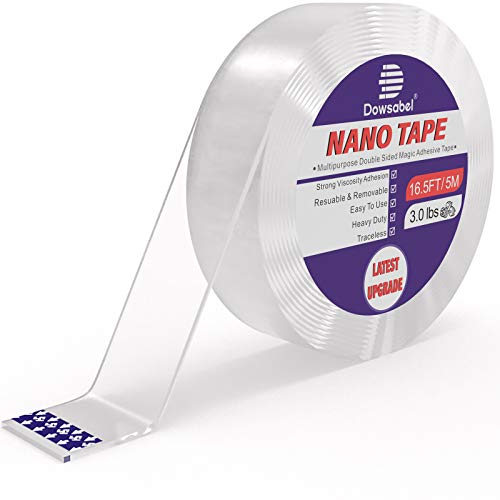 Double Sided Tape Heavy Duty, 16.5FT Multipurpose Removable Traceless...