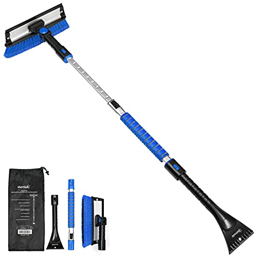 AstroAI 47.2' Ice Scraper for Car Windshield,Extendable Snow Brush for...