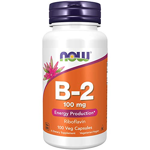 NOW Supplements, Vitamin B-2 (Riboflavin) 100 mg, Energy Production*, 100...