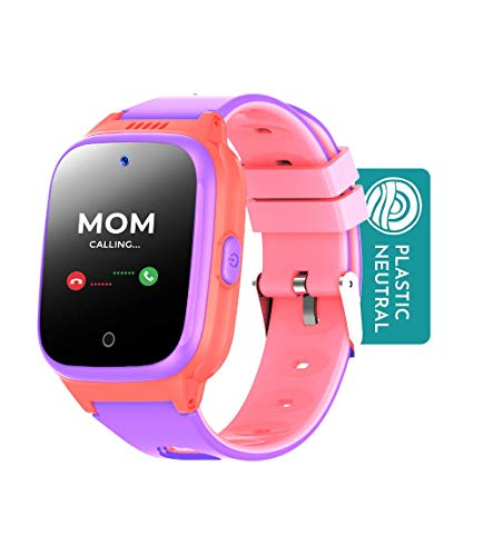 Cosmo JrTrack Kids Smartwatch   Pink   Voice & Video Call   GPS Tracker  ...