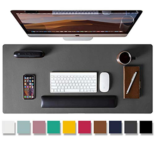 Leather Desk Pad Protector,Mouse Pad,Office Desk Mat, Non-Slip PU Leather...