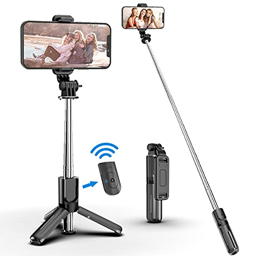 Selfie Stick Tripod with Bluetooth Wireless Remote, 3 in 1 Extendable...