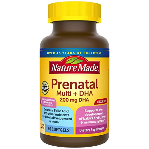 Nature Made Prenatal Multivitamin with 200 mg DHA, Multivitamin to Support...