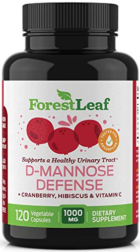 ForestLeaf D-Mannose Defense 1000mg - D Mannose with Cranberry, Hibiscus...