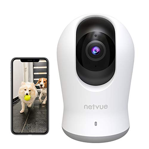 Netvue Indoor Camera 2K, Pet Camera Night Vision, Home Camera with H.265...