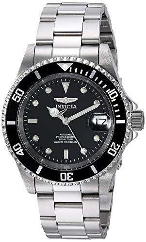 Invicta Pro Diver Unisex Wrist Watch Stainless Steel Automatic Black Dial -...
