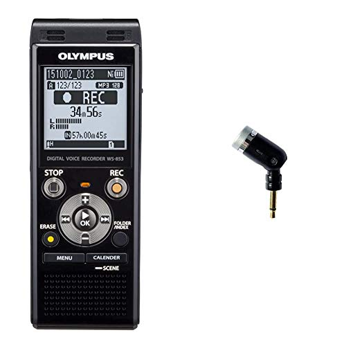 Olympus Voice Recorder WS-853 with 8GB, Voice Balancer, True Stereo Mic &...