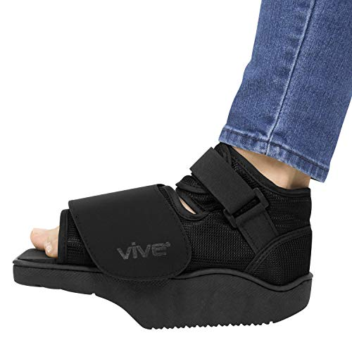 Vive Offloading Post-Op Shoe - Forefront Wedge Boot for Broken Toe Injury -...