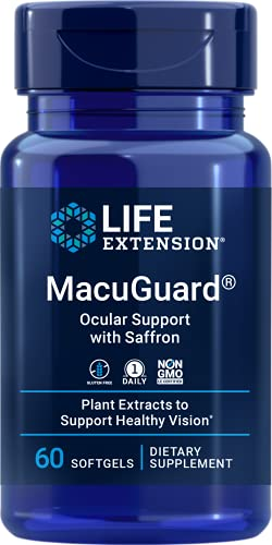 Life Extension MacuGuard Ocular Support with Saffron 60 softgels, Package...