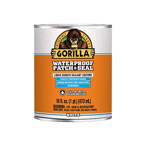 Gorilla Waterproof Patch & Seal Liquid, White, 16 Ounces, 1 Pack