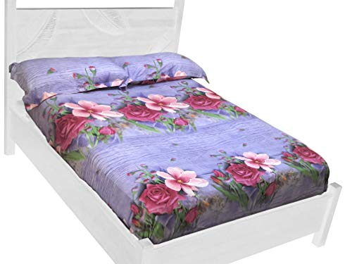 Aha Essentials Lyocell 3D Bedding Set - Queen size with Printed Sheets &...