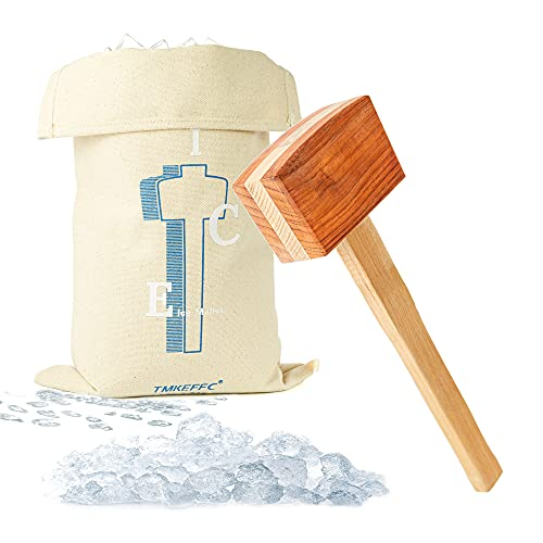 TMKEFFC Ice Mallet Lewis Bag Bartender Kit, Manual Wood Splicing Hammer and...