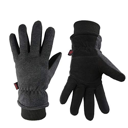 Winter Ski Gloves Cold Proof Insulated Work Glove for Driving Cycling...