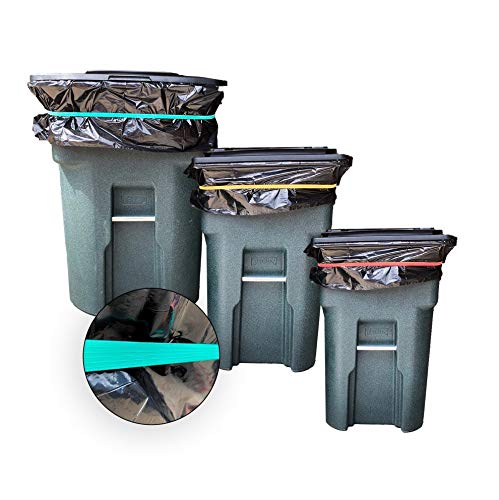 Tuffex Trash Can Bag Bands – Quickly & Easily Secure Garbage Can Liner To...