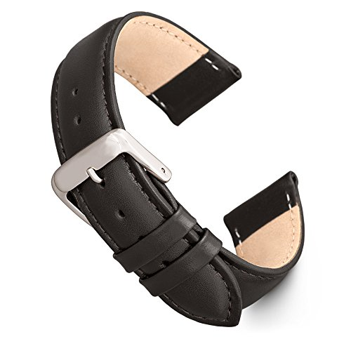 Speidel Genuine Leather Watch Band 18mm Black Calf Skin Replacement Strap,...