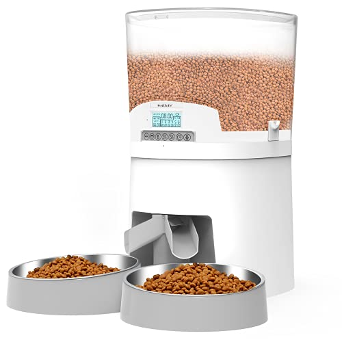 WellToBe 7L Automatic Cat Feeder for Two Animals,Pet Feeder Dog Food...