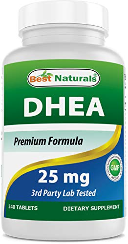 Best Naturals Dhea 25mg Supplement 240 Tablets - Supports Balanced Hormone...