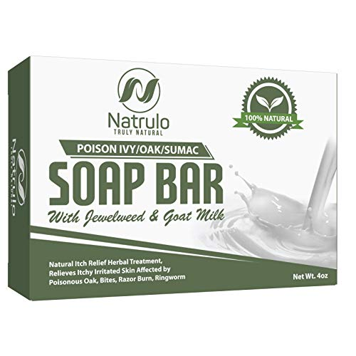 Poison Ivy Soap Bar with Jewelweed - Soothing, Healing Natural Itch Relief...