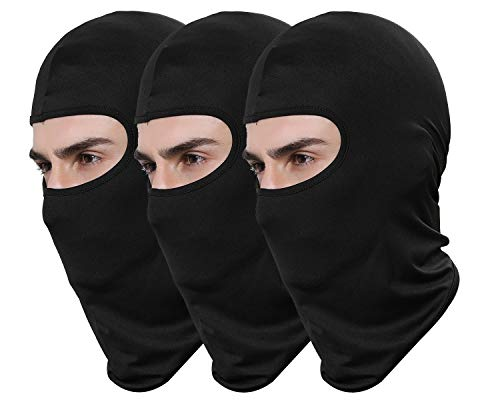 Pack of 3 Black Ski Mask Bandana Face Hat for Outdoor Airsoft Motorcycle...