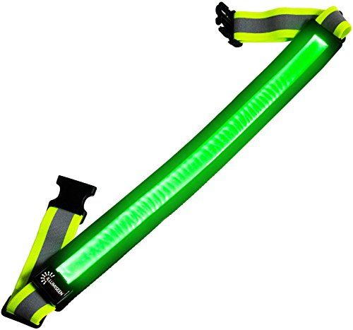 LED Reflective Belt - USB Rechargeable - High Visibility Gear for Running,...