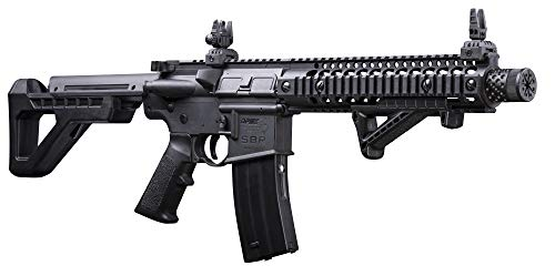DPMS Full Auto SBR CO2-Powered BB Air Rifle with Dual Action Capability,...