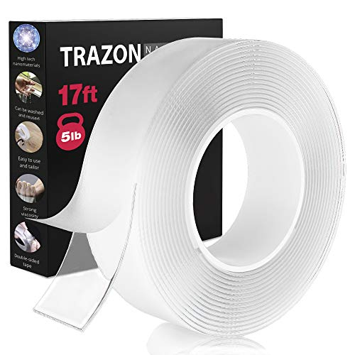 Double Sided Tape for Walls - Heavy Duty Removable Mounting Tape - Strong...