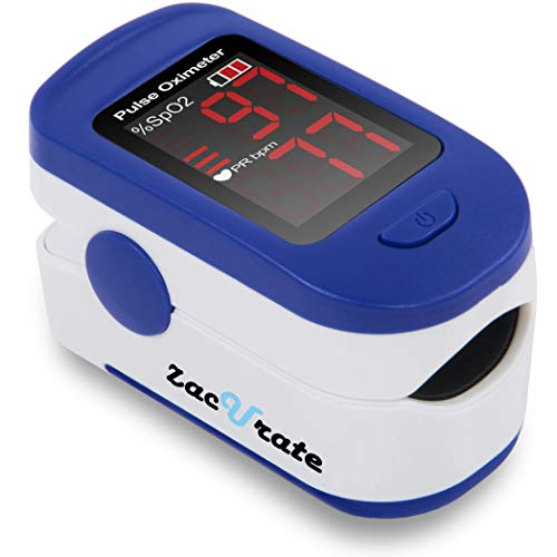 Zacurate 500BL Fingertip Pulse Oximeter Blood Oxygen Saturation Monitor...