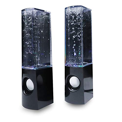 Aolyty Colorful LED Water Speaker with Dancing Fountain Light Show Sound...