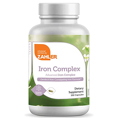 Zahlers Iron Complex, Complete Blood Building Iron Supplement with...