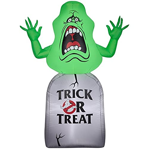 Ghostbusters Slimer on Tombstone Trick or Treat Inflatable 5 ft