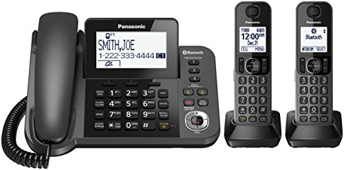 PANASONIC Bluetooth Corded / Cordless Phone System with Answering Machine,...