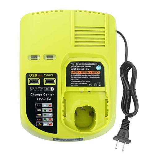 P117 Dual Chemistry Battery Charger Compatible with Ryobi 18V Li-ion...