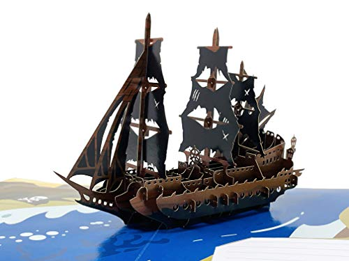 Pirate Ship - 3D Color Pop Up Greeting Card For All Occasions - Love,...