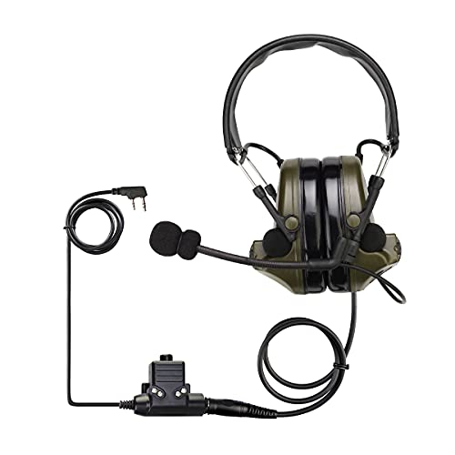 Retevis EHK007 Tactical Headset, 28db Noise Reduction, Electronic Pickup,...