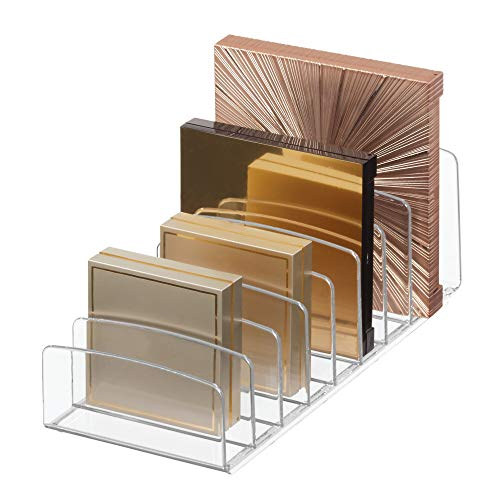 iDesign Clarity BPA-Free Plastic Divided Makeup Palette Organizer, 9.25' x...