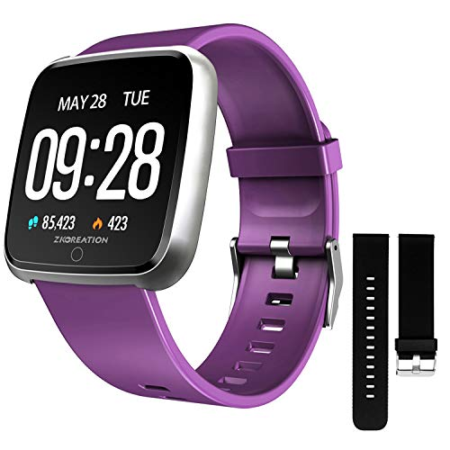 ZKCREATION Smart Watch Heart Rate Monitoring Fitness Tracker with Sleep...
