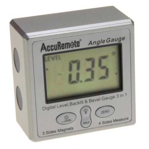 AccuRemote Digital Electronic Magnetic Angle Gage Level/Protractor/Bevel...