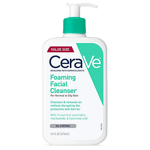 CeraVe Foaming Facial Cleanser   Makeup Remover and Daily Face Wash for...