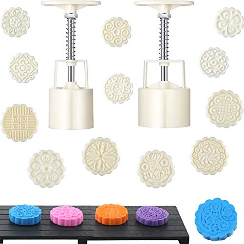 14 Pieces Bath Bomb Mold Kit Includes 2 Pieces Bath Bombs Press with 12...