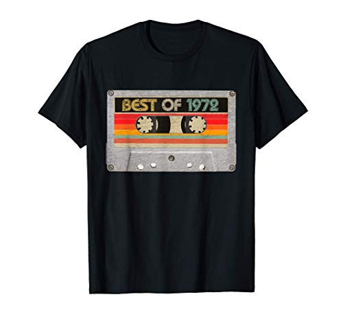 Best Of 1972 49th Birthday Gifts Cassette Tape Vintage T-Shirt